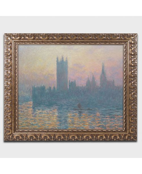 "Trademark Global Claude Monet 'The Houses of Pairlament' Ornate Framed Art - 14"" x 11"""