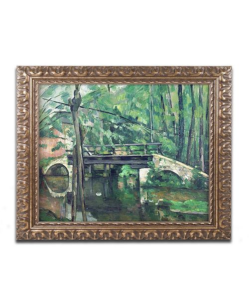 "Trademark Global Paul Cezanne 'View of the Marsailles Bay 1878' Ornate Framed Art - 16"" x 20"""