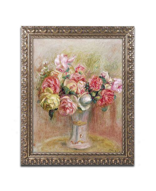 "Trademark Global Pierre Auguste Renoir 'Roses in a Sevres Vase' Ornate Framed Art - 16"" x 20"""