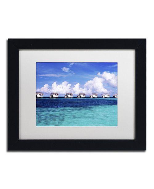 "Trademark Global David Evans 'Blue Lagoon-Maldives' Matted Framed Art - 11"" x 14"""