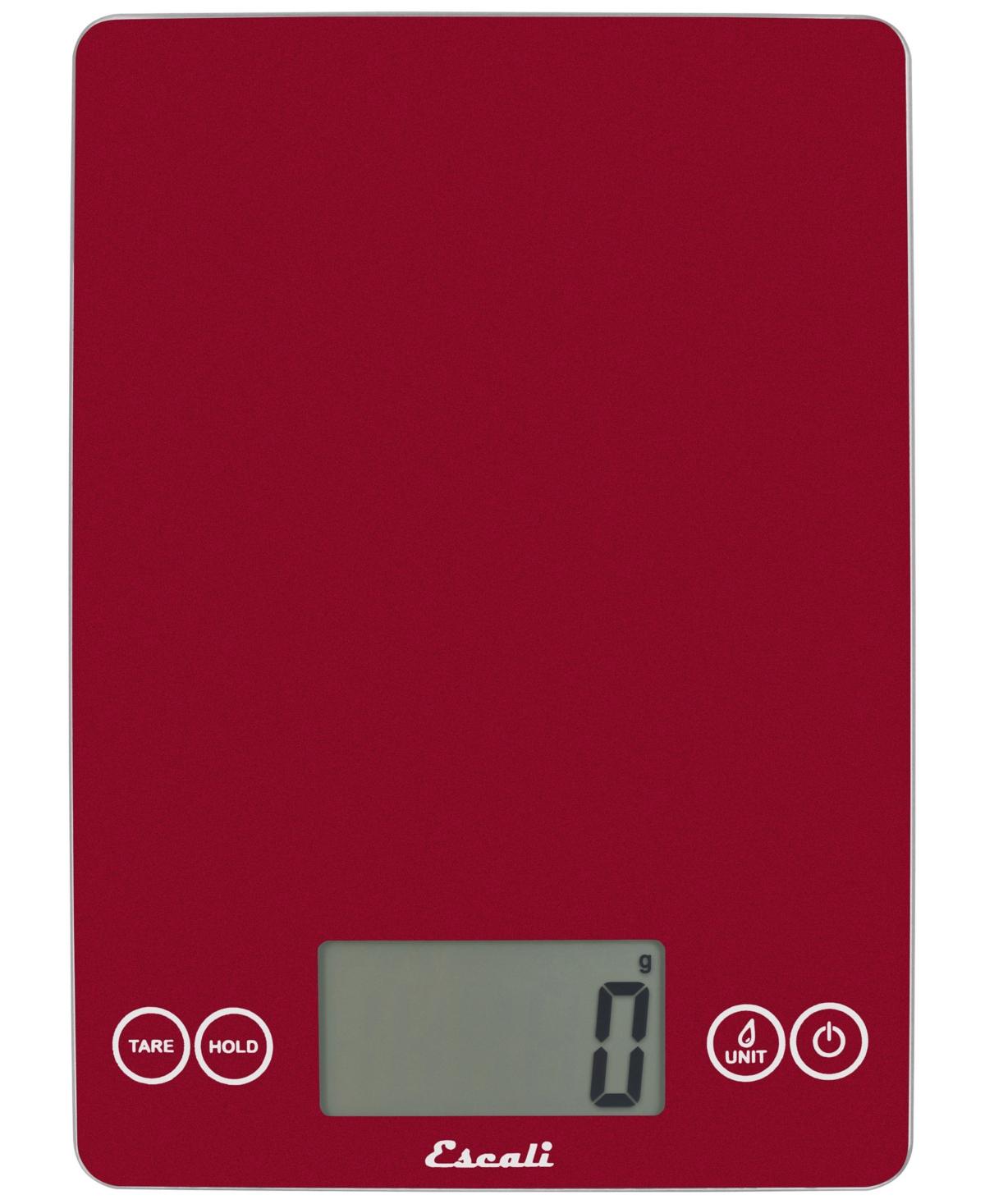 red digital kitchen scale