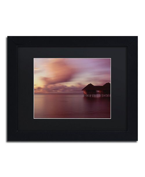 "Trademark Global David Evans 'New Day-Maldives' Matted Framed Art - 11"" x 14"""