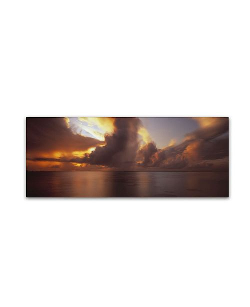 "Trademark Global David Evans 'Reef Sunrise-Maldives' Canvas Art - 16"" x 47"""