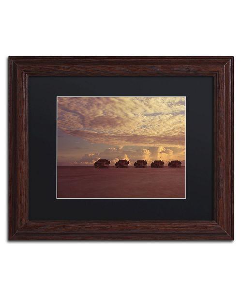 "Trademark Global David Evans 'Sunset-Jumeirah Vittaveli' Matted Framed Art - 11"" x 14"""
