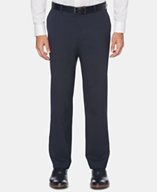 Perry Ellis Men's Portfolio Modern-Fit Performance Stretch Heathered Dress Pants
