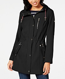 Zip-Front Hooded Anorak Jacket