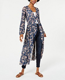 Juniors' Printed Button-front Duster, Created for Macy's