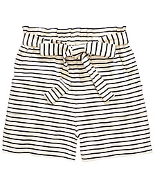 Big Girls Striped Tie-Waist Shorts