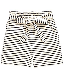 Monteau Big Girls Striped Tie-Waist Shorts