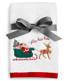 Martha Stewart Collection Santa 2-Pc. Cotton Fingertip Set, Created for Macy's