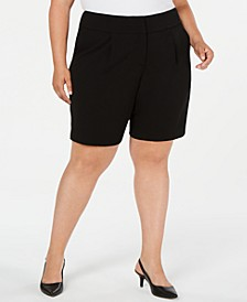 Plus Size Wide-Waistband Shorts, Created for Macy's