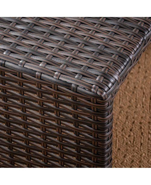 Pleasant Santa Rosa Outdoor Ottoman Set Quick Ship Creativecarmelina Interior Chair Design Creativecarmelinacom
