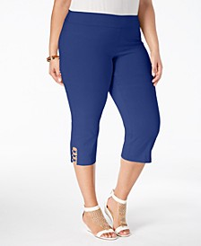 Petite Plus Size Tummy-Control Capri Pants, Created for Macy's