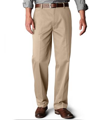 Dockers Signature Khaki Straight Fit Flat Front Pants, Limited ...