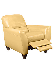 Almafi Leather Pushback Recliner