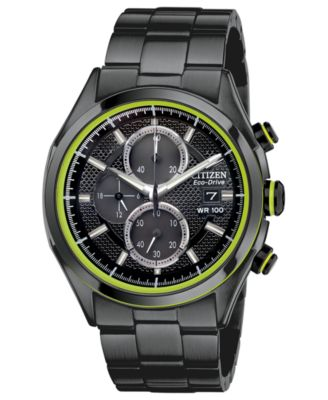 Citizen Men s Chronograph Drive from Citizen Eco-Drive Black Ion-Plated  Stainless Steel Bracelet Watch 40mm CA0435-51E - Watches - Jewelry   Watches  - ... 6a8d8ab20