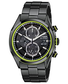 Men's Chronograph Drive from Citizen Eco-Drive Black Ion-Plated Stainless Steel Bracelet Watch 40mm CA0435-51E