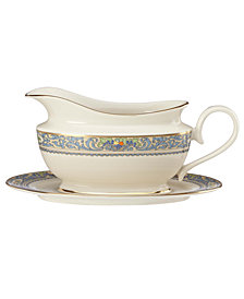 Lenox Autumn Gravy Boat and Stand