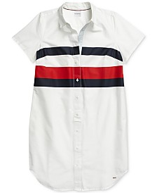 Tommy Hilfiger Adaptive Women's Shirtdress with Magnetic Buttons