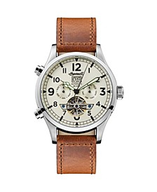 Armstrong Automatic with Stainless Steel Case, Cream Dial and Brown Leather Strap