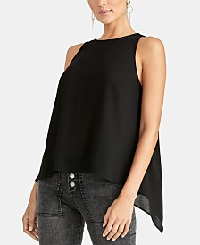 RACHEL Rachel Roy Raeni Draped-Back Sleeveless Top