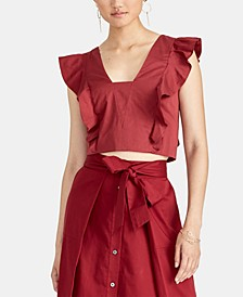 Marica Cropped Ruffled Top