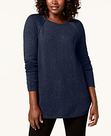Petite Curved-Hem Textured Sweater, Created for Macy's