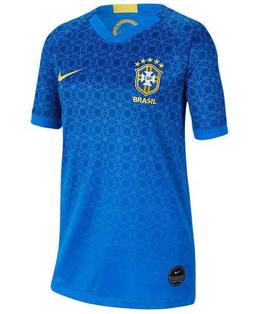 Nike Big Girls Brazil National Team Women's World Cup Away Jersey