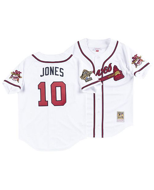 fd449df98 ... Mitchell & Ness Men's Chipper Jones Atlanta Braves Authentic  Cooperstown Jersey ...