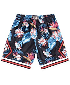 Mitchell & Ness Men's Chicago Bulls Floral Swingman Shorts
