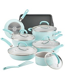 Create Delicious Aluminum Nonstick 13-Pc. Cookware Set