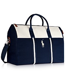 Receive a Complimentary Duffle with any large spray purchase from the Ralph Lauren Polo Blue Fragrance Collection