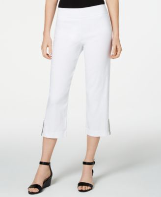 Embellished-Hem Capri Pants, Created for Macy's