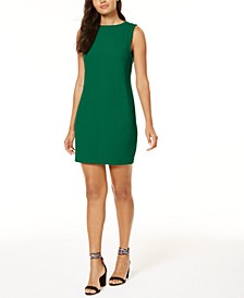 V-Back Crêpe Sheath Dress