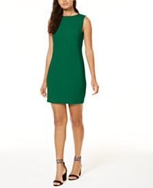 Trina Turk V-Back Crêpe Sheath Dress