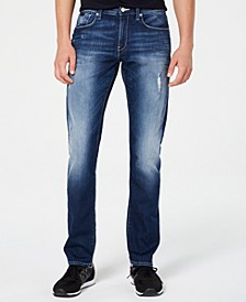 Men's Slim-Fit Slightly Distressed Jeans
