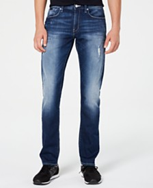 A|X Armani Exchange Men's Slim-Fit Slightly Distressed Jeans