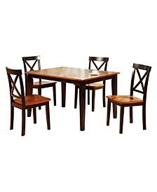 Decorous Rubber Wood 5 Pieces Dining Set