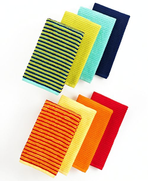 Fiesta Kitchen Towels, Set of 4 Turquoise Bar Mops