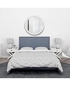 Designart 'Geometric Pattern' Scandinavian Duvet Cover Set - Twin