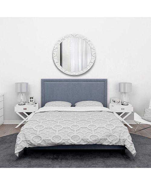 Design Art Designart 'Geometric Pattern' Scandinavian Duvet Cover Set - Twin