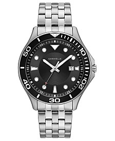 Caravelle Designed by Bulova Men's Sport Stainless Steel Bracelet Watch 42mm
