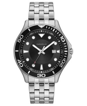 Designed by Bulova Men's Sport Stainless Steel Bracelet Watch 42mm