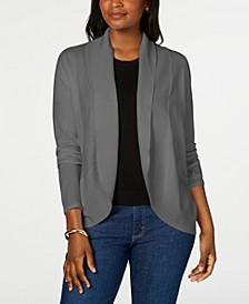 Petite Curved-Hem Shawl Cardigan Sweater, Created for Macy's