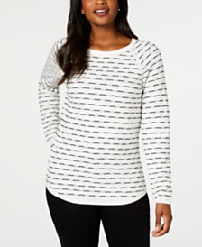 Karen Scott Petite Textured Sweater, Created for Macy's