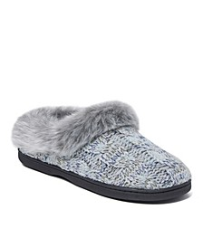 Women's Cable Knit Clog Slippers, Online Only