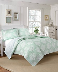 Laura Ashley Coral Coast Quilt Set, Twin