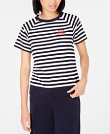 Tommy Hilfiger Striped French Terry Sweatshirt, Created for Macy's