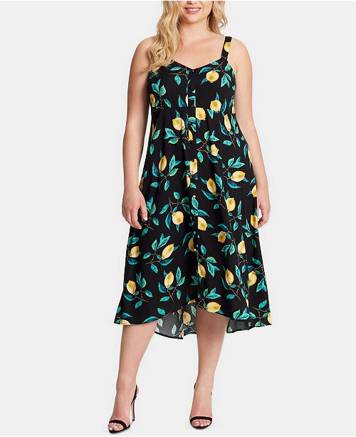 Jessica Simpson Plus Size Juniors' Shana Tie-Front Dress
