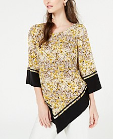 Printed V-Hem Top, Created for Macy's